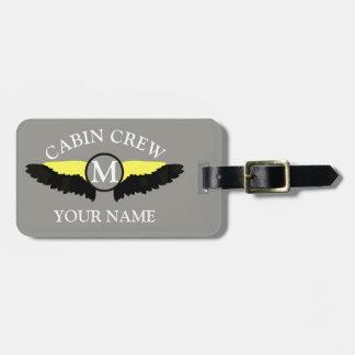 Étiquette À Bagage Équipage de cabine d'avion