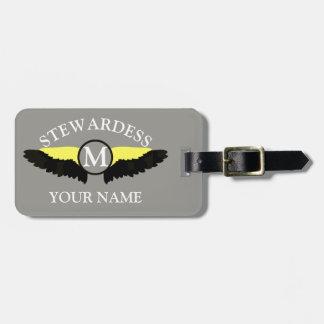 Étiquette À Bagage Équipage de cabine d'avion de Stewardes
