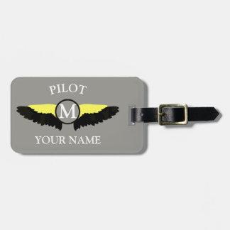 Étiquette À Bagage Équipage de cabine de pilote ou d'avion
