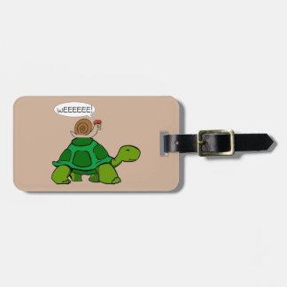 Étiquette À Bagage Escargot et tortue - duo de Turbo