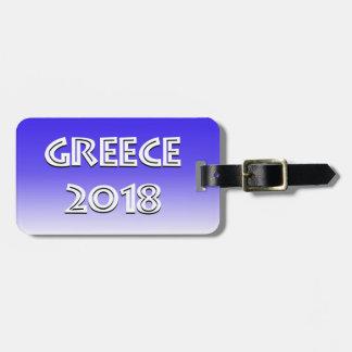 Étiquette À Bagage Étiquette 2018 de bagage de la Grèce