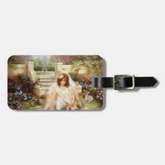 Étiquette À Bagage Étiquette angélique de bagage de jardin de