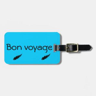 Étiquette À Bagage Etiquette bagages Bon voyage
