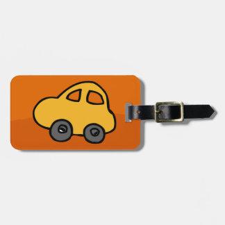 Étiquette À Bagage Étiquette de bagage avec la voiture mignonne de