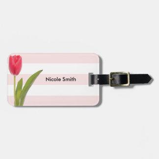Étiquette À Bagage Étiquette de bagage avec le bracelet en cuir