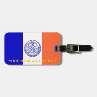 Étiquette À Bagage Étiquette de bagage avec le drapeau de New York,