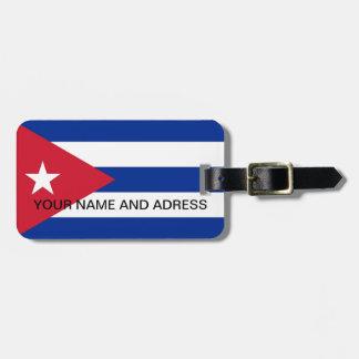 Étiquette À Bagage Étiquette de bagage avec le drapeau du Cuba