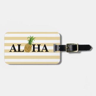 Étiquette À Bagage Étiquette de bagage d'ananas Aloha
