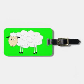 Étiquette À Bagage Étiquette de bagage de caractère de moutons
