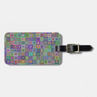 Étiquette À Bagage Étiquette de bagage de carrés