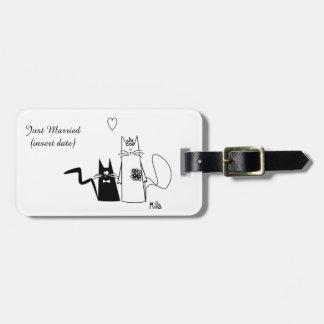 Étiquette À Bagage Étiquette de bagage de chats de mariage