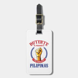Étiquette À Bagage Étiquette de bagage de Duterte