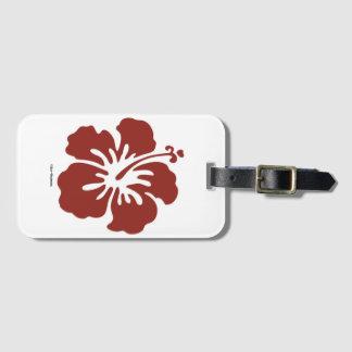 Étiquette À Bagage Étiquette de bagage de fleur de ketmie avec le