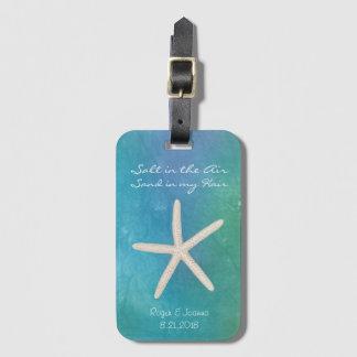 Étiquette À Bagage Étiquette de bagage de mariage de voyage de plage