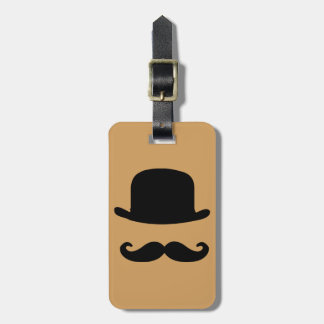 Étiquette À Bagage Étiquette de bagage de moustache et de casquette