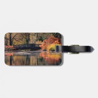 Étiquette À Bagage Étiquette de bagage de pont en automne