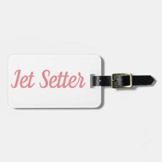 Étiquette À Bagage Étiquette de bagage de poseur de jet