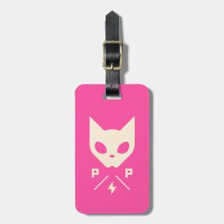 Étiquette À Bagage Étiquette de bagage de puissance de chat avec le