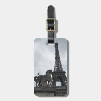 Étiquette À Bagage Étiquette de bagage de silhouette de Tour Eiffel