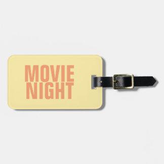 Étiquette À Bagage Étiquette de bagage de soirée cinéma avec le