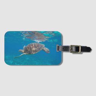 Étiquette À Bagage Étiquette de bagage de tortue de Se