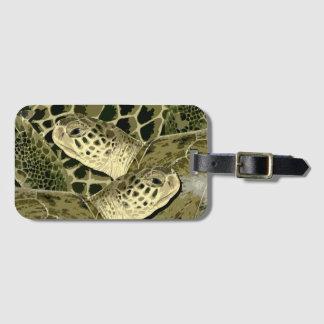 Étiquette À Bagage Étiquette de bagage de tortue verte