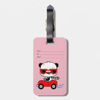 Étiquette À Bagage Étiquette de bagage de voyage de panda
