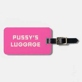 Étiquette À Bagage Étiquette de bagage du bagage du chat avec le