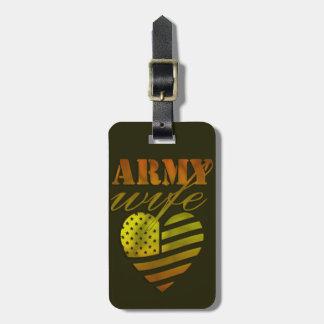 """Étiquette À Bagage Étiquette de bagages «ARMY Wife """""""