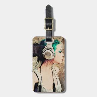 """Étiquette À Bagage Étiquette de bagages «Woman music """""""