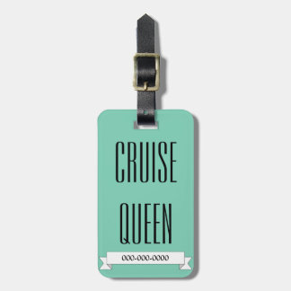 Étiquette À Bagage Étiquette de croisière drôle de bagage de la Reine