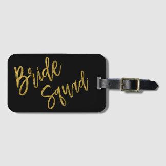 Étiquette À Bagage Étiquette de sac de bagage de feuille d'or de