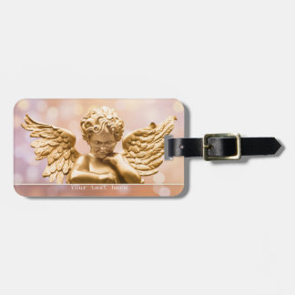 Étiquette À Bagage Étiquette de scintillement de bagage d'ange d'or