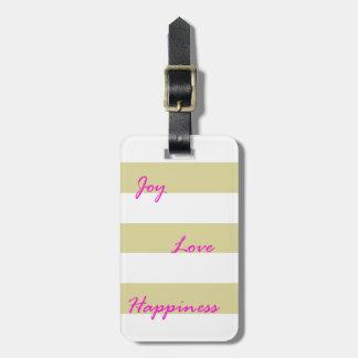 Étiquette À Bagage Étiquette d'or de bagage de joie