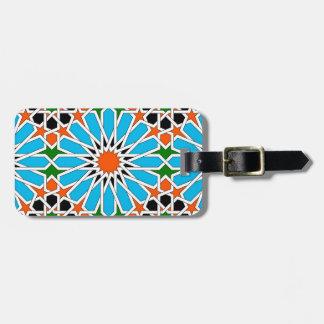 Étiquette À Bagage Étiquette géométrique islamique de bagage de motif