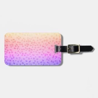 Étiquette À Bagage Étiquette rose de bagage de léopard