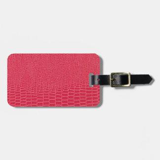 Étiquette À Bagage Étiquette rose rougeâtre de bagage de conception