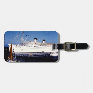 Étiquette À Bagage Étiquette vintage de bagage de bateau