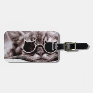 Étiquette À Bagage Étiquette vivante de bagage du chat le plus frais