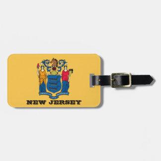 Étiquette À Bagage Étiquettes de bagage de drapeau de New Jersey