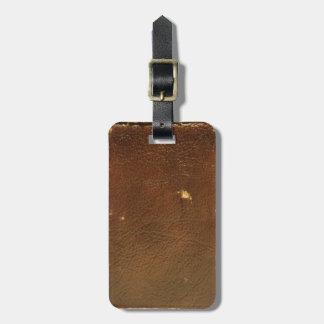Étiquette À Bagage Faux en cuir vintage de Brown