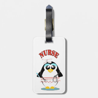 Étiquette À Bagage Femelle de pingouin d'infirmière