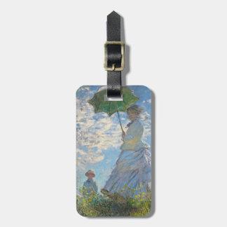 Étiquette À Bagage Femme de Claude Monet | avec un parasol