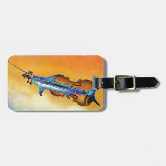 Étiquette À Bagage Fisholin V1 - poissons instrumentaux