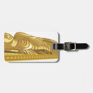 Étiquette À Bagage Fixation de statue de Bouddha d'or