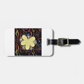 Étiquette À Bagage FLEUR abstraite de regard de papillon de 100