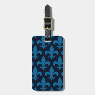 Étiquette À Bagage Fleur bleu de lis French