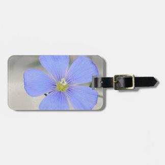 Étiquette À Bagage Fleur bleue occidentale de lin