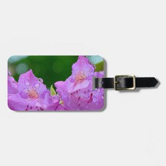 Étiquette À Bagage Fleur violette