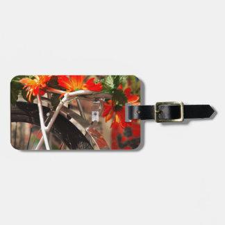 Étiquette À Bagage Fleurs de bicyclette